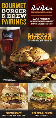 Gourmet Burger & Brew Pairings