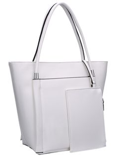 White Magnetic Oversized Shoulder Bag 28.15