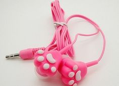 Creative cartoon cute cat claw headset - Thumbnail 3