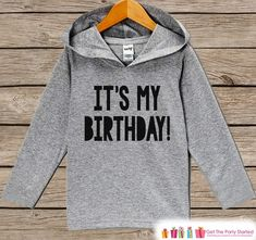 Kids Birthday Shirt - It's My Birthday Hoodie #clothing #children #hoodie @EtsyMktgTool #birthdayshirt #firstbirthdayshirt #firstbirthday