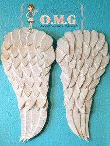 cardboard & paper mache angel wings