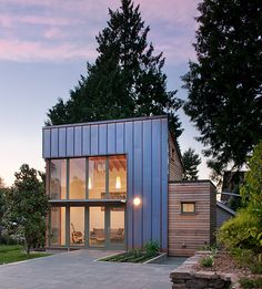 Copper-clad detached studio by Ninebark Studio | Photographer:  Aaron Leitz