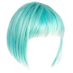 Annabelle's Wigs Mint Cropped Wig With Bleached Ends ($44) ❤ liked on Polyvore featuring hair, wigs, doll parts, doll hair and dolls