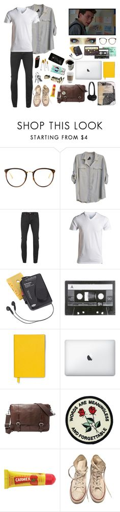 """Original oc"" by gglloyd ❤ liked on Polyvore featuring Linda Farrow, Seneca Rising, Neuw, Westinghouse, Smythson, FOSSIL, Carmex, Converse, men's fashion and menswear"