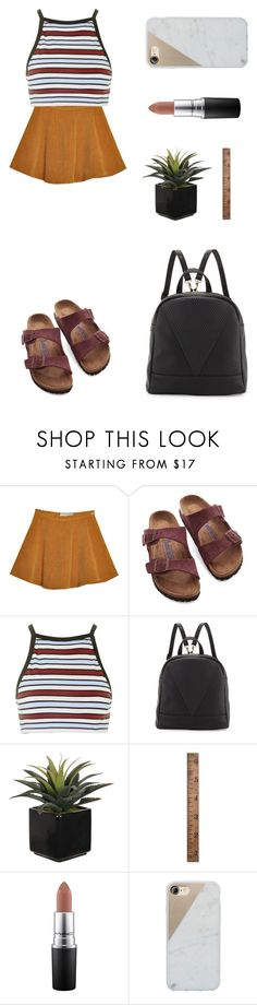 """""""Untitled #2200"""" by ihavepashion-forfashion ❤ liked on Polyvore featuring Birkenstock, Motel, Poverty Flats, WALL, MAC Cosmetics and Native Union"""