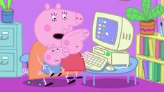 Peppa Pig: Mummy Pig at Work. Cartoons for Kids/Children