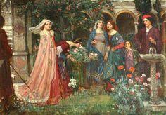 John William Waterhouse, The Enchanted Garden on ArtStack #john-william-waterhouse #art