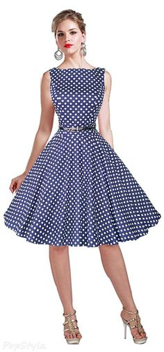 48+ ideas vintage shoes rockabilly polka dots for 2019 Mode Outfits, Dress Outfits, Dress Up, Fashion Dresses, Swing Dress, Skirt Fashion, Vintage Dresses 50s, Retro Dress, Vintage Outfits