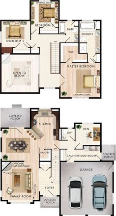 Cranbrook Floor Plan by beaverhomesandcottages. I would put a family room on the second floor instead of it being open to below.