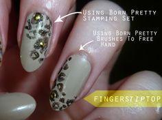 Golden Glitter Leopard Drawing Nails: http://fingerstiptop.blogspot.com/2014/09/born-pretty-store-review-2.html