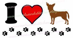 Chihuahua SVG - Love Dogs SVG - Chihuahua Lover SVG - Digital Cut File - Vector - Cricut Cut - Instant Download - Svg, Dxf, Jpg, Eps, Png by cardsandstitches on Etsy