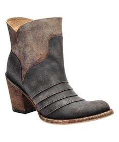 Look what I found on #zulily! Distressed Chocolate & Brown Leather Ankle Boot - Women #zulilyfinds