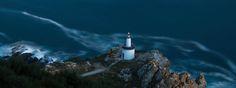 Lighthouse photo poster, Night fine art photography, Coastal landscape wall art, Seascape home decor prints, Nature  texture wallpaper photo de AnaPregodesign en Etsy #long #exposure #photography #night #seascape #landscape #lighthouse #spain #galicia #cies #islands #art #fineart