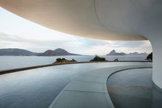 Rio de Janeiro played host to Louis Vuitton's Cruise 17 show yesterday, kicking off an Olympic summer where all eyes are on Brazil. Concept Models Architecture, Museum Architecture, Minimalist Architecture, Futuristic Architecture, Amazing Architecture, Landscape Architecture, Interior Architecture, Oscar Niemeyer, Louis Vuitton