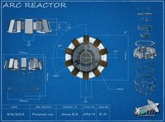 Iron Man Arc Reactor Blue-print by Jamezzz92 on DeviantArt