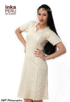 Vestido señora. Moda 100% algodón natural peruano.