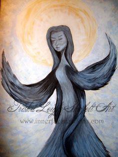 Angel of Silences (c) 2014 Trisha Leigh Shufelt http://trishaleighart.blogspot.com/
