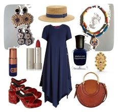 """Starting from the necklace"" by harikleiatsirka on Polyvore featuring Sies Marjan, Filù Hats, Ilia, Deborah Lippmann, Jil Sander, Chloé, House of Matriarch and Lalaounis"