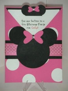 STAMP WITH TERE: FREE TUTORIAL: MINNIE MOUSE INVITATION CARD
