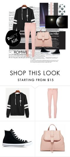 """Romwe sweatshirt"" by irinavsl ❤ liked on Polyvore featuring Balenciaga and Converse"