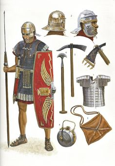 Sean O' Brogain Roman Army Soldier Osprey pub. Arte Assassins Creed, Roman Armor, Ancient Armor, Rome Antique, Roman Warriors, Roman Legion, Empire Romain, Armadura Medieval, Roman Soldiers