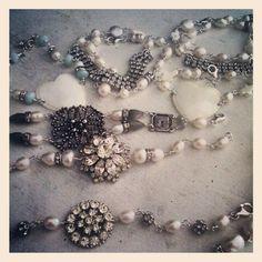 Some new bracelets #jewelry #vintage #repurposed #bracelets