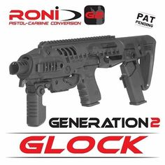 #TRAPLIFE Pinterest - @houstonsoho | RONI-G2 Glock Pistol Carbine Conversion Kit By CAA Tactical