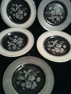 5 Exquisite Avon Hummingbird 24% Full Lead Crystal Salad Plate from France #Avon