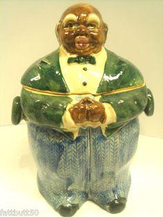 "RARE Cookie Jar ""Herringbone Butler Jar"" Mammy Black Memorabilia Chef 1940 | eBay"
