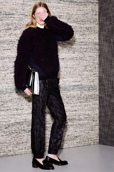 Stella McCartney: Pre-Fall 2013- Those pants will be mine! (Loving the over-sized color block clutch, too!)