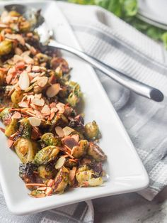 Vegan Roasted Pesto Brussel Sprouts ready to eat