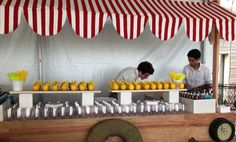 Lemonade stand we did for a kids party | Peter Callahan Catering