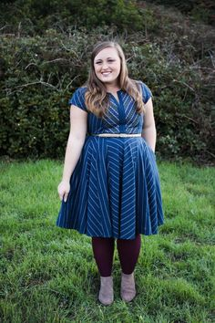 <3 #chevron #bluedress #stylegallery