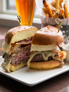 Saddle up for Paramour's special Rodeo Burger, piled high with melted Tillamook Cheddar, House BBQ Sauce, Lancaster Bacon and Onion Rings!