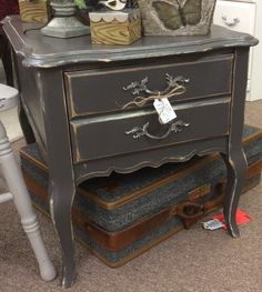 $69.95 great French Provençal side table found in Marietta at A Classy Flea 10/13