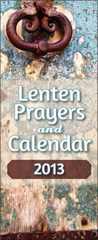 This folded leaflet helps families focus on Lent every day with a Gospel passage,  virtue or value to reflect on, and a prayer that turns the focus of the reflection toward others. Liguori's Lenten Prayers and Calendar is the perfect complement to a Daybreaks daily meditation. http://www.liguori.org/productdetails.cfm?PC=12185
