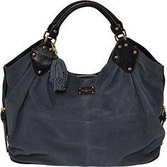 Grey Suede Tote Bag