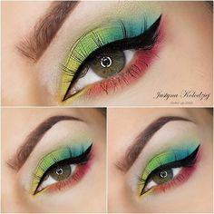 Neon Spring - #eyemakeup #eyeshadow #eyes #brightshadow #brightmakeup #justynamakeup - bellashoot iPhone & iPad, bellashoot.com (mobile-friendly)