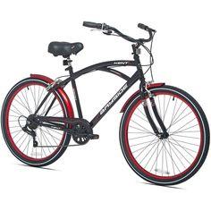 Mens Cruiser Bicycle 26 Inch Bike 7 Speed Bumper Suspension Seat Hand Brakes #Kent