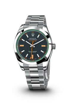 I'm not big on Rolex, but I love the Milgauss. Certified chronometer with magnetic shielding, green sapphire crystal, steel case and the cool lightning bolt second hand!