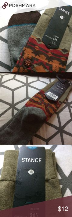NWT Stance socks sz L (9-12) Really cute stance socks brand new with tags size large(9-12) sinaloa  Olive green red brown and orange and gray men's sizes but stats can also be worn by women because they're totally cool Stance Underwear & Socks Casual Socks