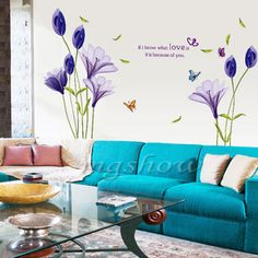 Love Flower Removable Vinyl Decal Wall Sticker Mural DIY Art Room Home Decor New $16.95