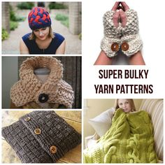 If you're in the mood for instant gratification, there's no better way to get it than knitting with super bulky yarn! From pillows and blankets to shawls and beyond, get some instant knitting gratification with these super bulky yarn patterns from our quick-stitching Craftsy designers.
