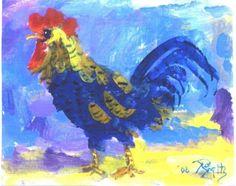 IMPRESSIONIST ROOSTER 5x6 print Jim Smeltz   by jimsmeltzgallery, $5.00