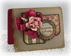 Birthday card by Julee Tilman using Verve Stamps.