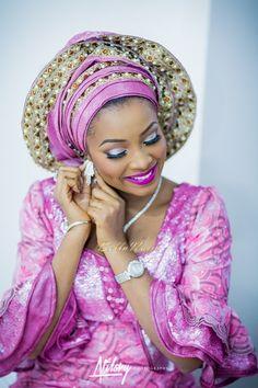 BellaNaija Bride Safiya in Pink Aso-Oke by Bimmms Alaso-Oke | Make Up by Mamza Beauty | Atilary Photography | Hausa Bride