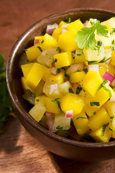 Mango Salsa with Cucumber, Lime & Cilantro Recipe