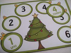 Classroom Freebies: Count down to Christmas- Spanish game Spanish Games, Spanish Activities, Christmas Activities, Christmas Themes, Kids Christmas, Christmas Crafts, Preschool Spanish, Elementary Spanish, Preschool Themes