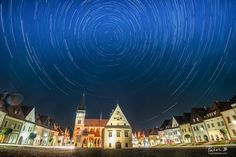 bardejov is spinning too  I am very proud of my home town beautiful Bardejov. Old and well preserved city at UNESCO heritage list. Always happy to get back home - and find a new way to photograph it. As this is my season of night and star trails photography I wanted to see if I would be able to capture stars above the heart of the city - main square with iconic City Hall and St. Giles Basilica. I have pointed camera towards the North to have the center of spinning in the middle of the…