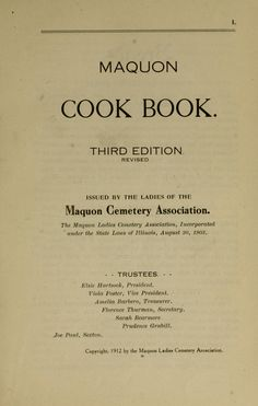 Maquon cook book